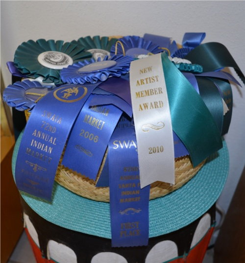 Basket of award ribbons
