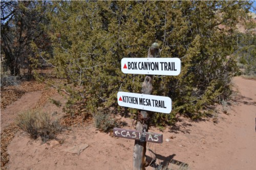Ghost ranch trail signs