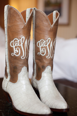 Southern-wedding-monogrammed-cowboy-boots