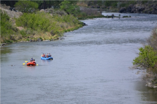Floating on the Rio Grande