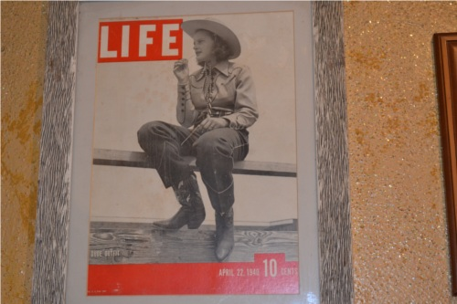 One of the Photos on Cowgirl's Wall of Fame