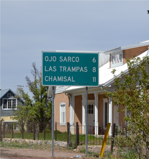 Sign to Ojo Sarco