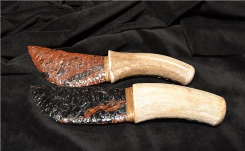 Obsidian-Antler knives