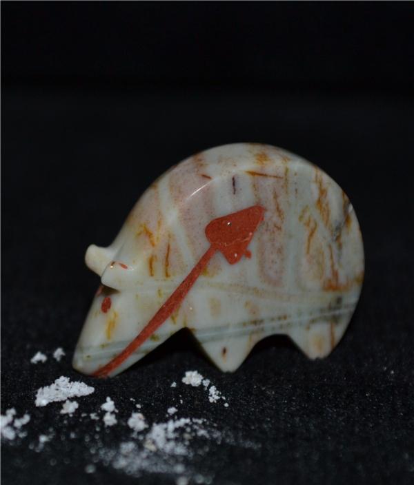 Picasso Marble Bear Fetish - Eldred Quam - Zuni