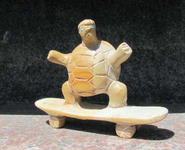 Skateboarding Turtle - Brennette Epaloose