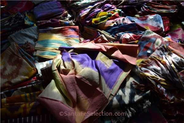Silks in abundance- International Folk Art Market Santa Fe