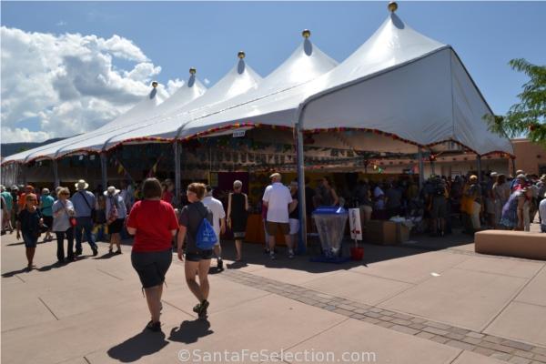 large tent at folk art market & Tour the World at The International Folk Art Market u2013 Santa Fe ...