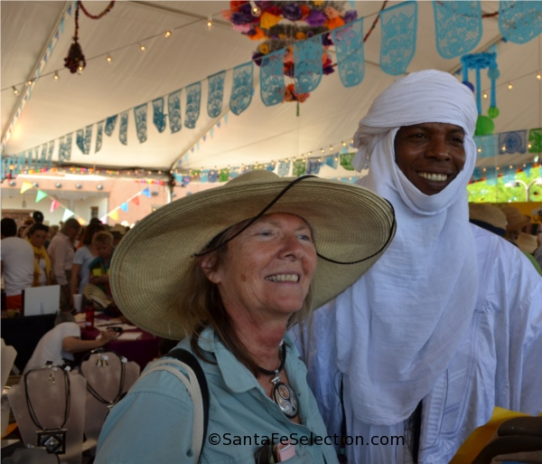 Elhadji Koumama of Niger, with a loyal fan of his Tuareg Jewelry