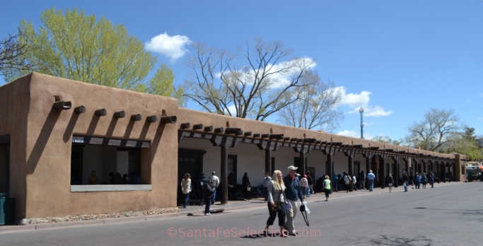Palace of the Governors, 2014, where the Native American vendors sell their crafts every day.