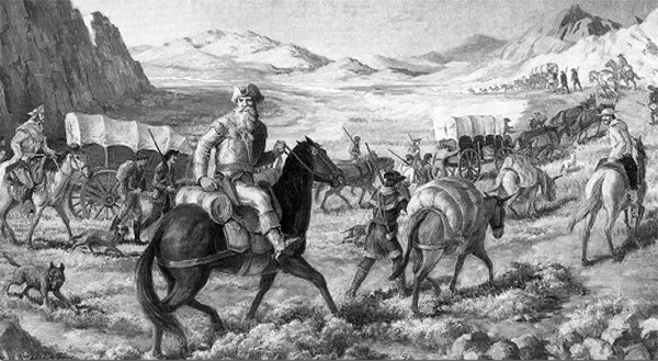 William Becknell on the Santa Fe Trail, 1821.