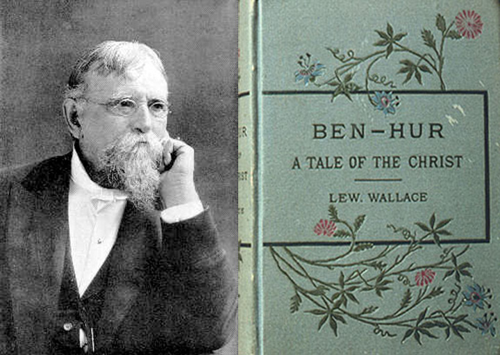 Gov. Lew Wallace and a first edition of Ben-Hur - 1880.