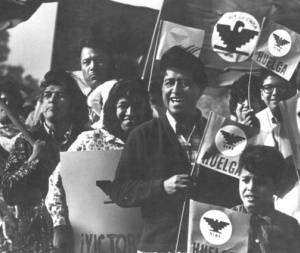 Cesar Chavez in the United Farm Workers March-1970. Photo courtesy of UNM Archives