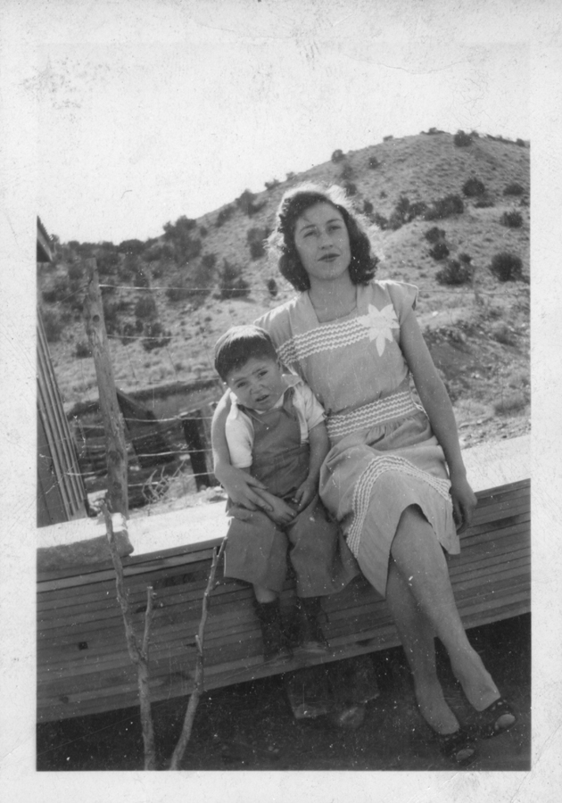 Young David with his mother Carmen
