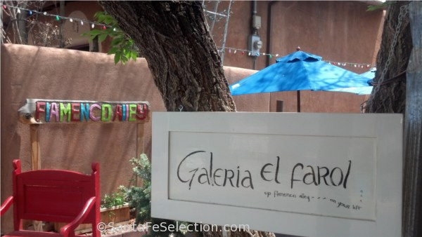The Galeria is at the back of the restaurant by the patio area. You take Flamenco Alley to get there.