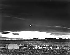 Moonrise, Hernandez, New Mexico. Ansel Adams