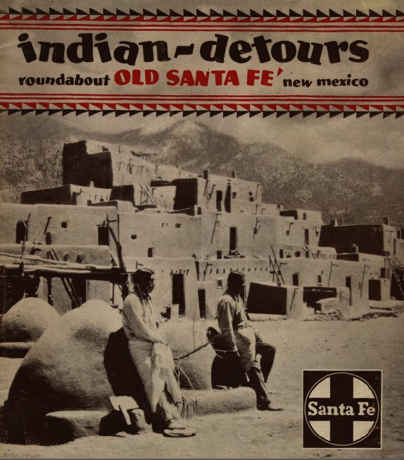 Indian Detour Brochure cover with Taos Pueblo