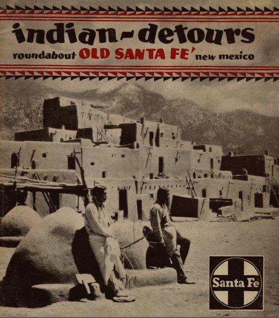 Indian Detour Brochure cover with Taos Pueblo