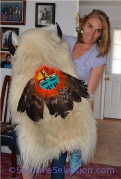 Me with a heavy white Buffalo Head dress.