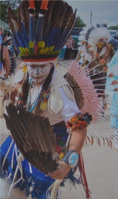 One of Andy's grandsons in Comanche regalia.