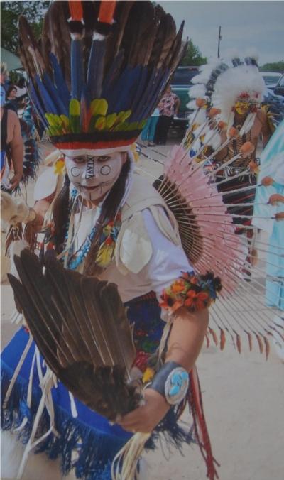 One of Andy's grandsons in Comanche regalia.