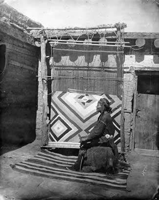 Navajo Weaver. Image: The Harvey Library