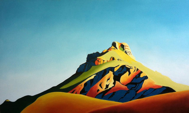 "Trish-Booth. ""Chisos Crown"" - Oil on Canvas."