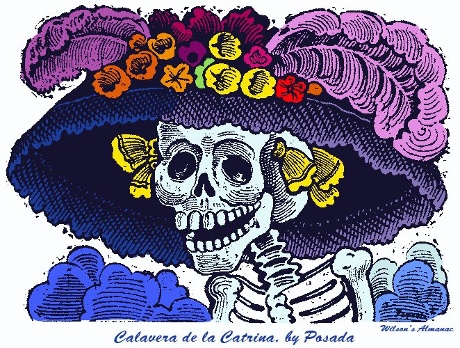 Calavera de la Catrina engraving by Jose Guadalupe Posada circa1800s