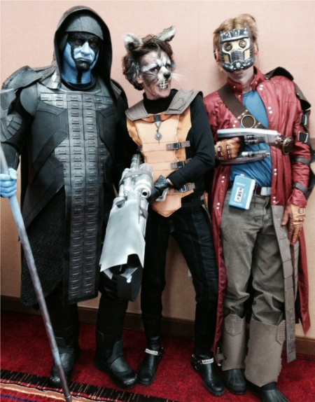 Ronan The Destroyer, Rocket Raccoon and Star Lord from Guardians of the Galaxy. Photo Courtesy of Mason Wagner and Jennifer Lang