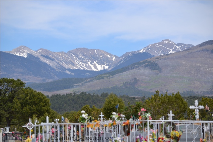 Truchas Peaks and Cemetery by Maria Johnson