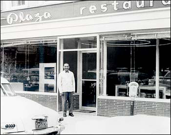 Dan Razatos outside The Plaza Cafe. Image courtesy of Razatos Family Archive