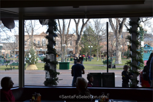 December view of Santa Fe's plaza. 2014.