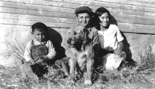 Cousin Alfred, Allan and cousin Mildred. Circa 1922. Courtesy Houser family archive.