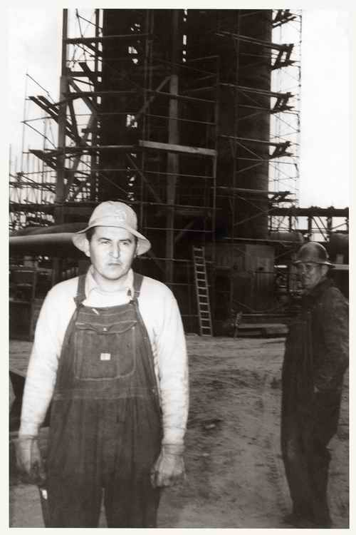 Allan. Steelworker in L.A circa 1942. Image: Houser family archive.