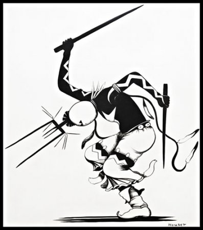 allan houser the making of a legend santa fe selectionsanta fe Ski Cloudcroft apache gans dancer pen and ink 1939