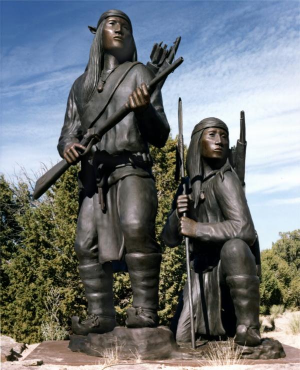 """Unconquered II"" -  Bronze, 1994. Allan Houser."