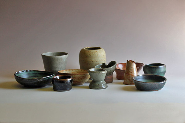 All our finished pieces with a variety of glazes and finishes.