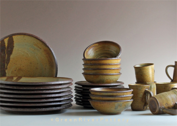 Dinner Set by Theo Helmstadter: Green River Pottery Gallery & Studio