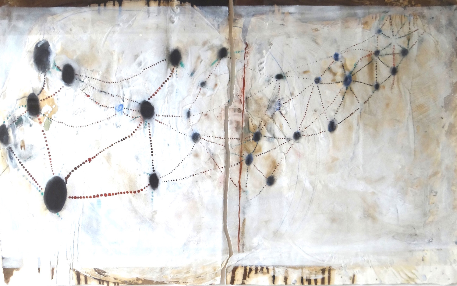 Constellation - Mixed media. Lauren Mantecon