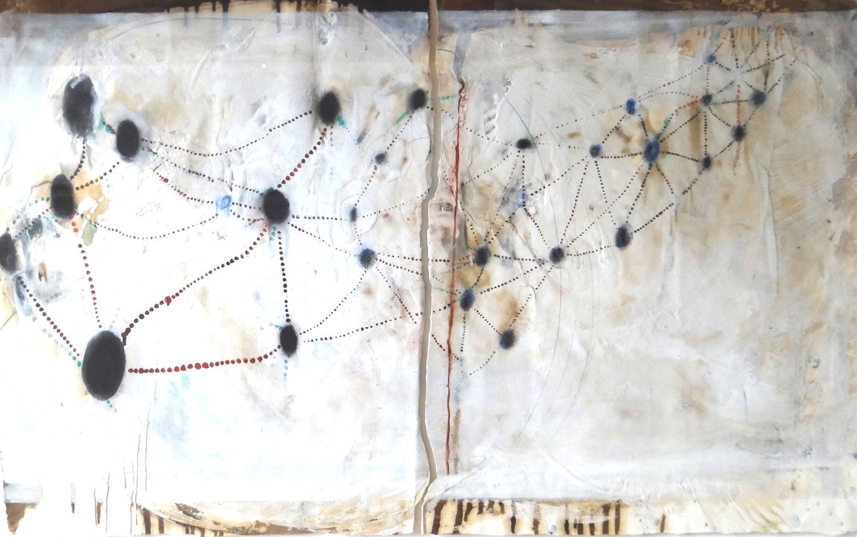 Constellation - Mixed media. Lauren Mantecon