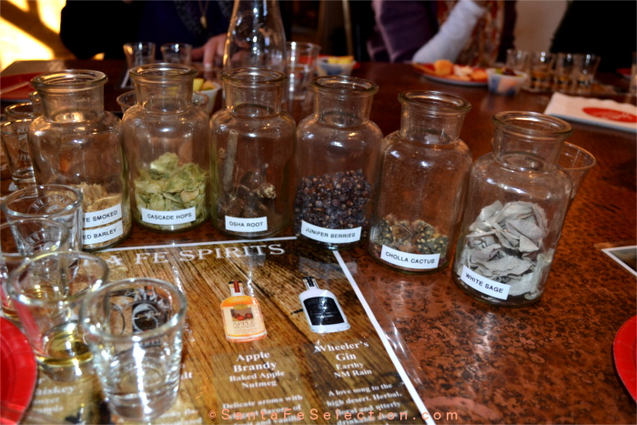 A line up of the actual botanicals used in Santa Fe Spirits artisanal liqueurs.