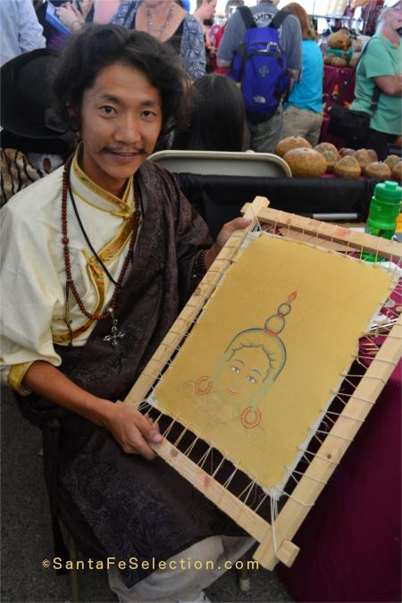 Tibet. Kalsang Tashi. Thangka paintings.
