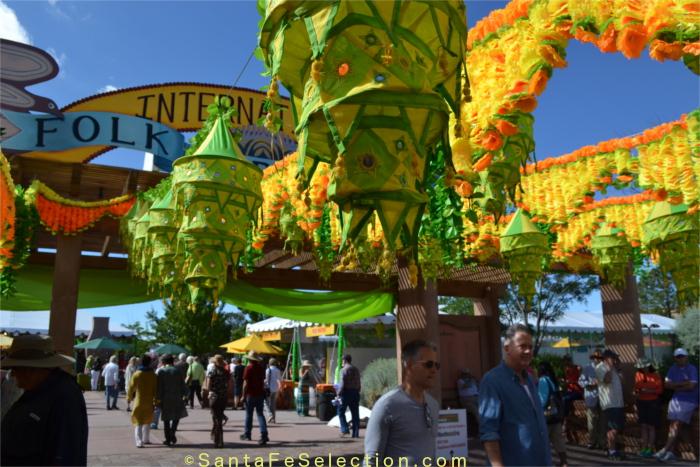 Santa Fe International Folk Art Market Entrance, 2015.