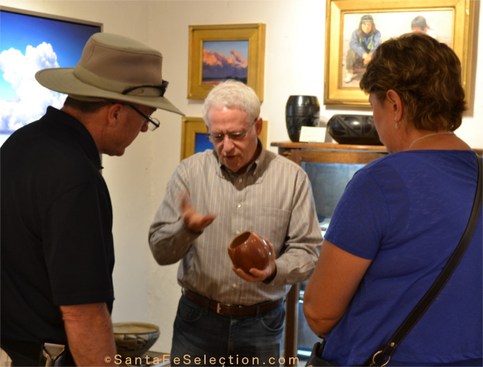 Lyn Fox at his gallery on Canyon Road.
