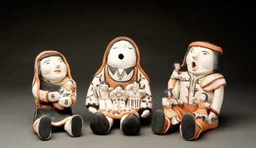 Storytellers by Ada Suina, Cochiti Pueblo,  1980's-'90's