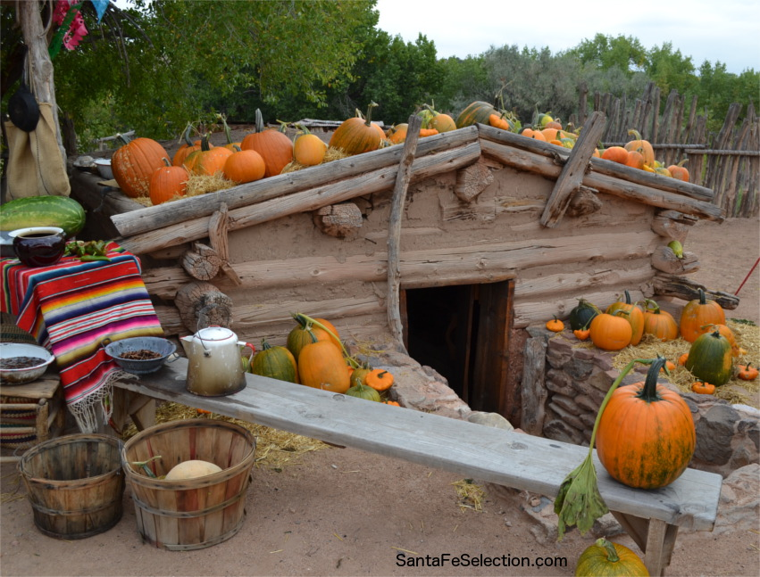 The root cellar at El Rancho de Las Golondrinas during Harvest Festival.