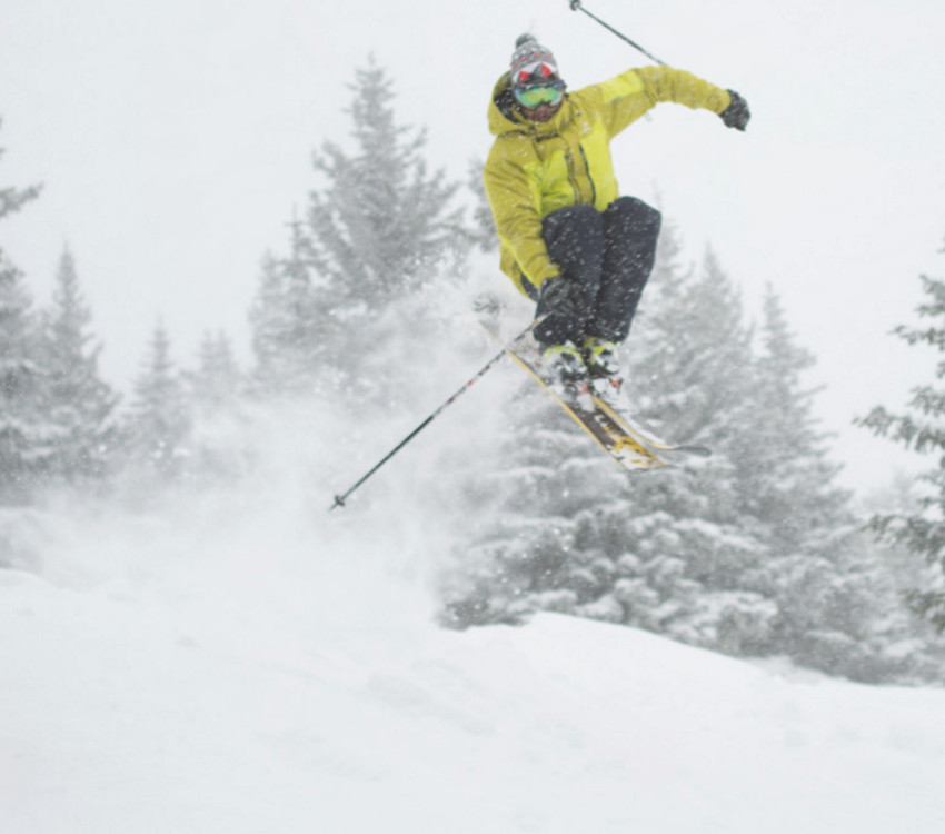 Skier in Flight at Ski Santa Fe.