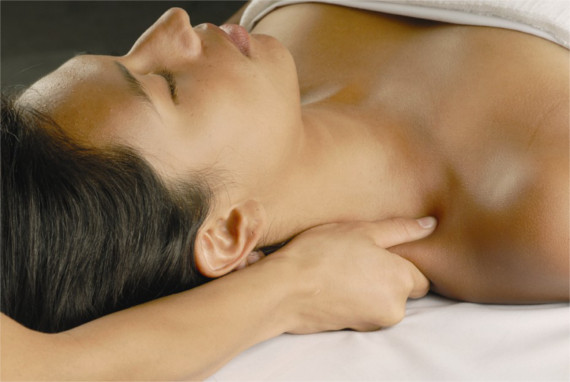 Therapeutic neck massage at High Desert Healthcare & Massage.