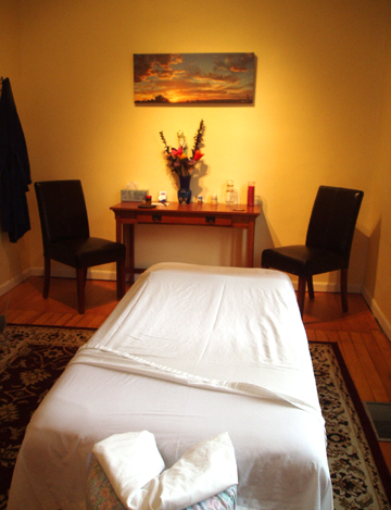 High Desert Healthcare-Massage Room. Quiet and comfortable.
