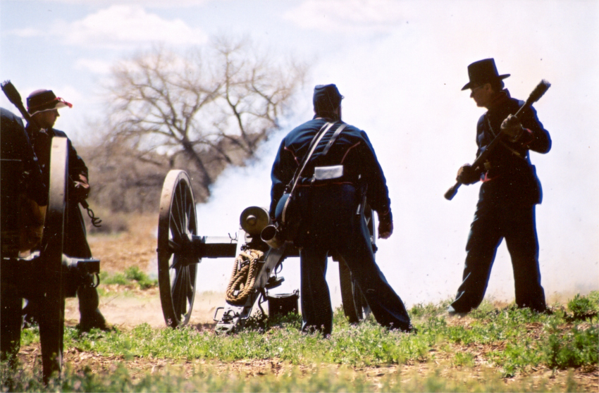 April opens with the Civil War Re-enactment