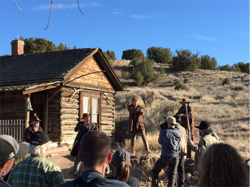 Filming of the TV series Gunslingers 2.